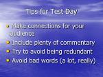 tips for test day2