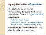 highway hierarchien konstruktion
