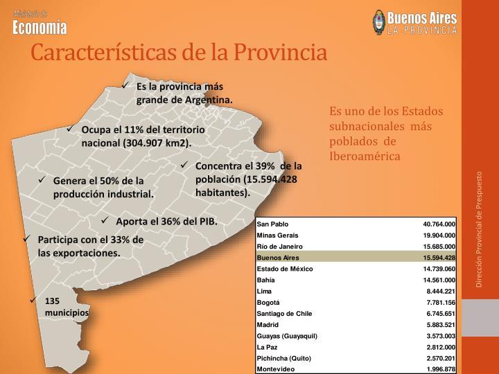 Características de la Provincia