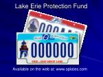 lake erie protection fund