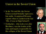unrest in the soviet union