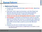 format failures