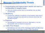 message confidentiality threats