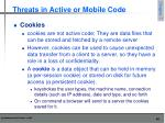 threats in active or mobile code1