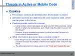 threats in active or mobile code2