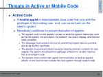 threats in active or mobile code5