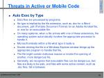 threats in active or mobile code7