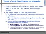threats in transit eavesdropping and wiretapping