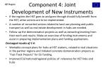 component 4 joint development of new instruments