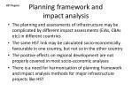 planning framework and impact analysis