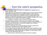 from the voter s perspective