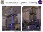 spacecraft stack dynamics load testing