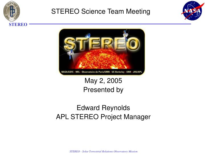 stereo science team meeting n.