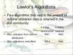lawlor s algorithms
