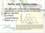 niche and communities1