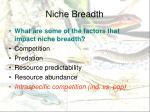 niche breadth