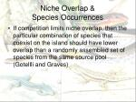 niche overlap species occurrences
