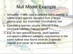 null model example