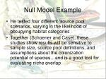 null model example1