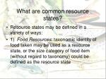 what are common resource states