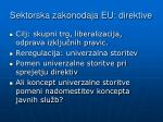 sektorska zakonodaja eu direktive