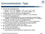 grenzwertanalyse tipps