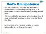 god s omnipotence