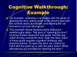 cognitive walkthrough example