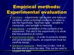 empirical methods experimental evaluation1