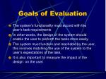 goals of evaluation1
