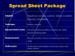 spread sheet package