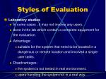 styles of evaluation1