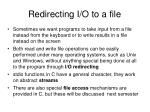 redirecting i o to a file