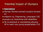 potential impact of olympics1