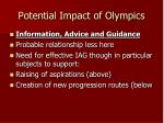 potential impact of olympics2