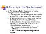 g recycling in the biosphere cont5