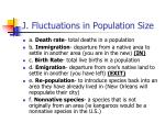 j fluctuations in population size