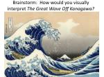 brainstorm how would you visually interpret the great wave off kanagawa