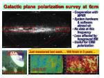 galactic plane polarization survey at 6cm