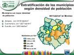 estratificaci n de los municipios seg n densidad de poblaci n