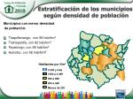 estratificaci n de los municipios seg n densidad de poblaci n1