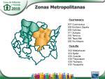 zonas metropolitanas