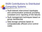 rain contributions to distributed computing systems