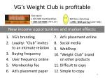 vg s weight club is profitable