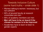 towards inclusive culture some hard truths snide slide 1