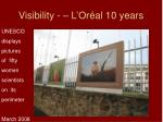 visibility l or al 10 years1