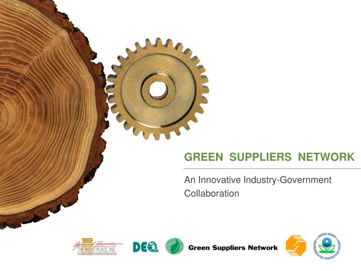 green suppliers network n.