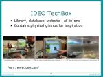 ideo techbox
