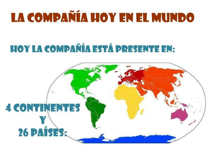 La Compañía hoy en el mundo
