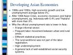 developing asian economies